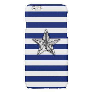 クロム海軍の航海のな星のプリントは縞で飾ります
