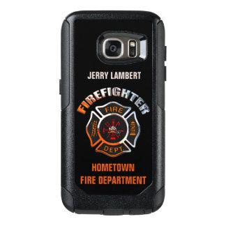 クロム消防士の名前のテンプレート オッターボックスSamsung GALAXY S7ケース