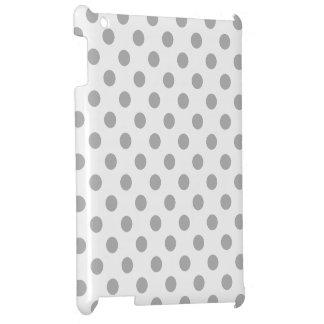 クロム灰色の水玉模様の円 iPadケース