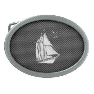 クロム銀はカーボン繊維のヨットを好みます 卵形バックル