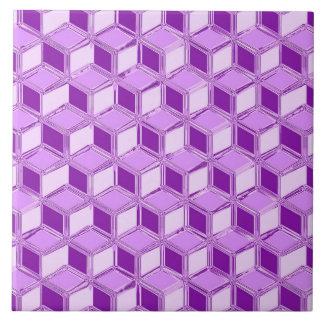 クロム3D箱-すみれ色の紫色 タイル