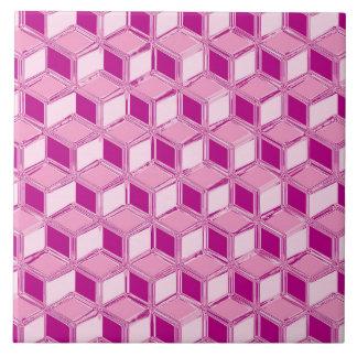 クロム3D箱-明るい赤紫色のピンク タイル