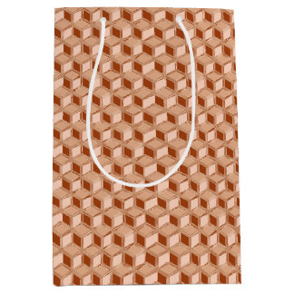 クロム3D箱-着色される銅 ミディアムペーパーバッグ