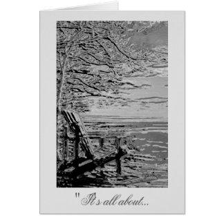 クロムAdirondackの椅子の写真の挨拶状 グリーティングカード