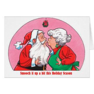 クロースKissing Smooch Holidayサンタ夫人の挨拶 カード