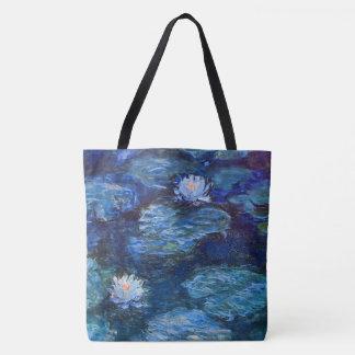 クロード・モネのファインアートによる青のスイレンの池 トートバッグ