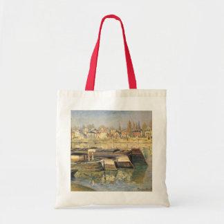クロード・モネの印象主義著Asnieresのセーヌ河 トートバッグ