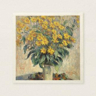 クロード・モネキクイモによっては1880年が開花します スタンダードカクテルナプキン