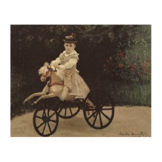 クロード・モネ彼の趣味の馬の|ジーンMonet、1872年 ウッドウォールアート