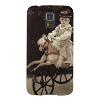 クロード・モネ彼の趣味の馬の|ジーンMonet、1872年 Galaxy S5 ケース