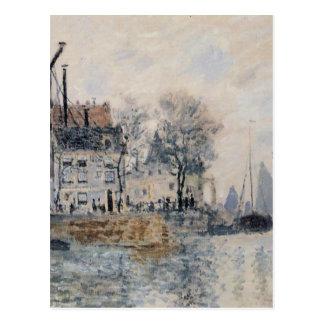 クロード・モネ著アムステルダムの眺め ポストカード