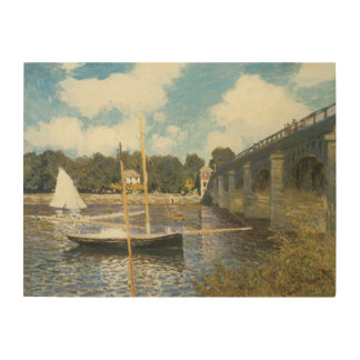 クロード・モネ著アルジャントゥーユのハイウェー橋 ウッドウォールアート
