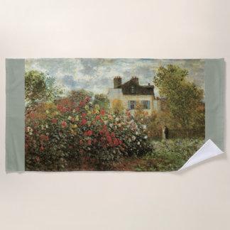クロード・モネ著アルジャントゥーユのMonetの庭 ビーチタオル