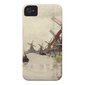クロード・モネ著オランダの風車 Case-Mate iPhone 4 ケース