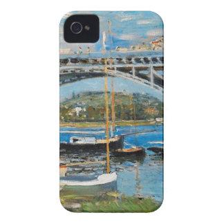 クロード・モネ著セーヌ河上の橋 Case-Mate iPhone 4 ケース