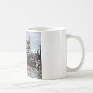 クロード・モネ著ルーアンのボート コーヒーマグカップ
