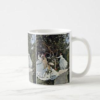 クロード・モネ著庭の女性 コーヒーマグカップ