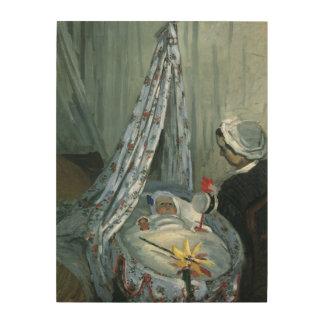 クロード・モネ著彼の揺りかごのジーンMonet ウッドウォールアート