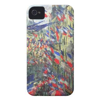 クロード・モネ著旗が付いている通りMontargueil Case-Mate iPhone 4 ケース