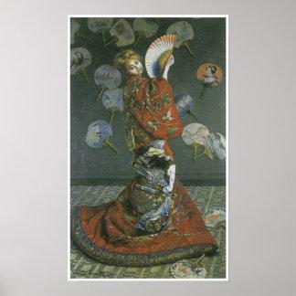 クロード・モネ著日本のな女性 ポスター