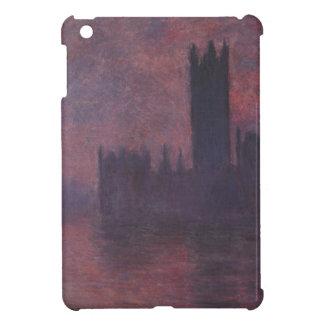 クロード・モネ著日没の議会の家 iPad MINIケース