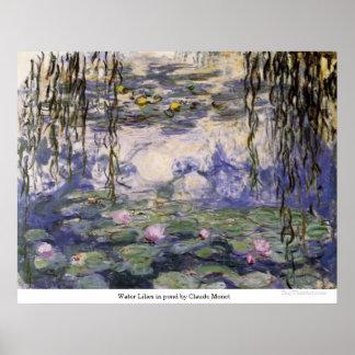 クロード・モネ著池のスイレン ポスター