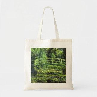 クロード・モネ著白い《植物》スイレン、ヴィンテージの芸術 トートバッグ