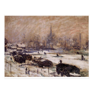 クロード・モネ著雪のアムステルダム ポストカード