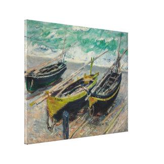 クロード・モネ著3つの漁船 キャンバスプリント