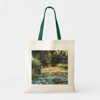 クロード・モネ著《植物》スイレンの池上の橋 トートバッグ