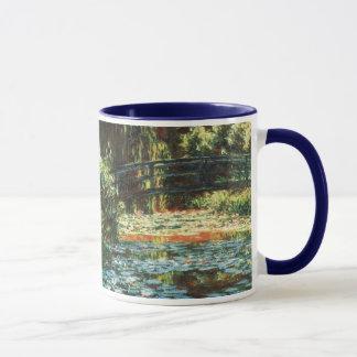 クロード・モネ著《植物》スイレンの池上の橋 マグカップ