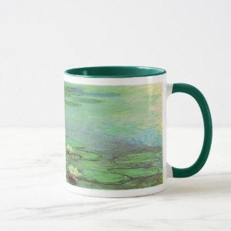 クロード・モネ著《植物》スイレン、ヴィンテージの印象主義 マグカップ