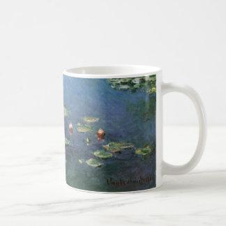 クロード・モネ著《植物》スイレン、ヴィンテージの花 コーヒーマグカップ
