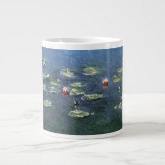 クロード・モネ著《植物》スイレン、ヴィンテージの花 ジャンボコーヒーマグカップ
