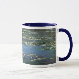 クロード・モネ著《植物》スイレン、ヴィンテージの花 マグカップ