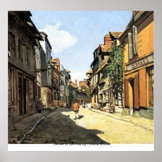 クロード・モネ著Bavolleの通り ポスター