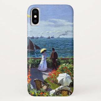 クロード・モネ著Jardinのà Sainte-Adresse iPhone X ケース