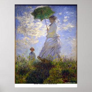 クロード・モネ著Monetの傘 ポスター