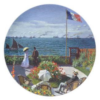 クロード・モネ著Sainte-Adresseの庭 プレート