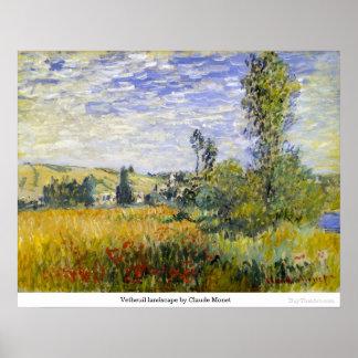 クロード・モネ著Vetheuilの景色 ポスター
