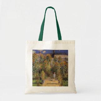 クロード・モネ著Vetheuilの芸術家の庭 トートバッグ