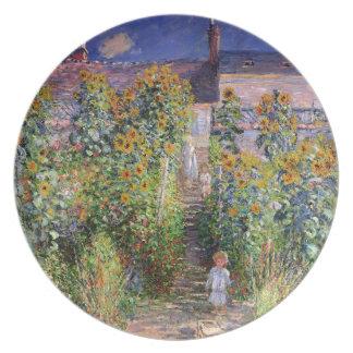 クロード・モネ著VétheuilのMonetの庭 プレート