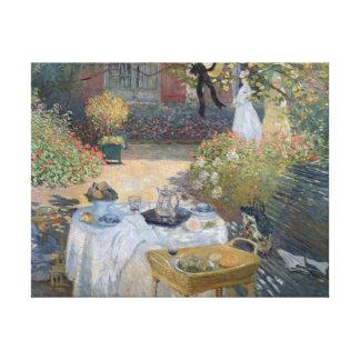 クロード・モネ|の昼食会: Monetの庭アルジャントゥーユ キャンバスプリント