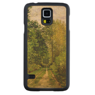 クロード・モネ|の樹木が茂った道 CarvedメープルGalaxy S5スリムケース