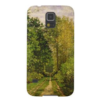 クロード・モネ|の樹木が茂った道 GALAXY S5 ケース