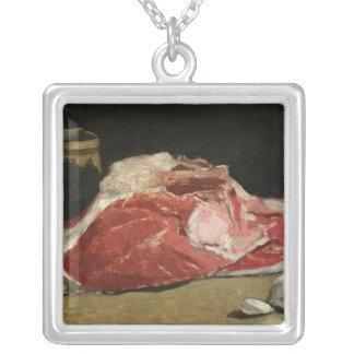 クロード・モネ の静物画、肉の接合箇所 シルバープレートネックレス