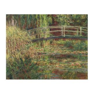クロード・モネ|の《植物》スイレンの池: ピンクのHarmony 1900年 ウッドウォールアート