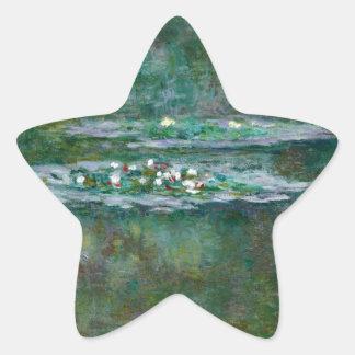 クロード・モネ//の《植物》スイレン 星シール