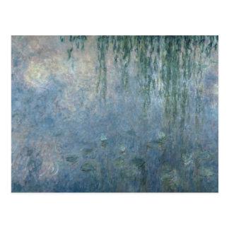 クロード・モネ|の《植物》スイレン: 朝のシダレヤナギ ポストカード
