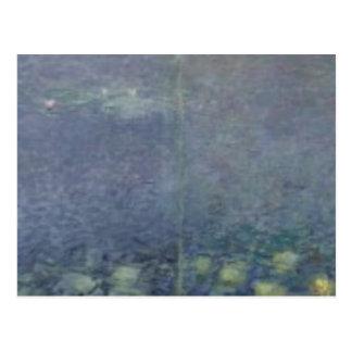 クロード・モネ|の《植物》スイレン: 朝1914-18年 ポストカード